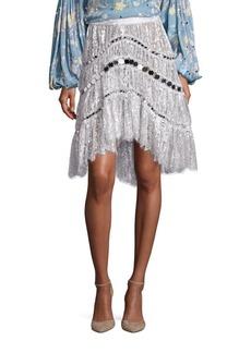 Zimmermann Adorn Crystal Lace Skirt