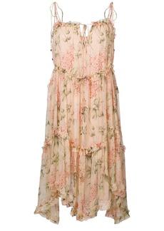 Zimmermann asymmetric floral print dress - Multicolour