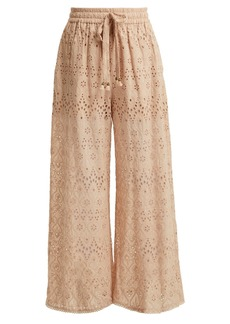 Zimmermann Bayou cotton and silk-blend trousers