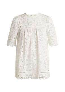 Zimmermann Bayou embroidered cotton top