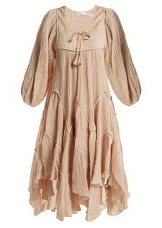 Zimmermann Bayou handkerchief-hem dress