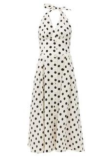 Zimmermann Bellitude polka-dot linen-blend dress