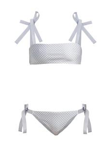 Zimmermann Bowie Tie polka-dot bandeau bikini