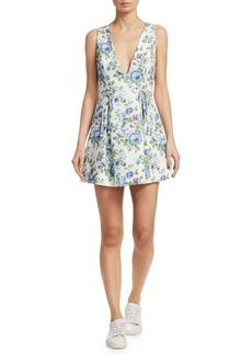 Zimmermann Breeze Lace-Up Mini Dress