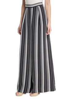 Zimmermann Breeze Wide-Leg Striped Silk Pants