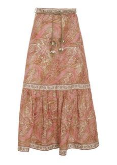 Zimmermann Brighton Linen Midi Skirt
