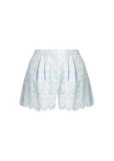 b072062fa10f6 Zimmermann Broderie-anglaise cotton and silk-blend shorts