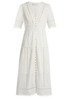Zimmermann Caravan embroidered cotton dress