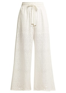 Zimmermann Castile cotton and silk-blend trousers