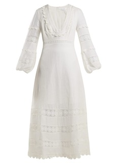 Zimmermann Castile lace-trimmed cotton dress