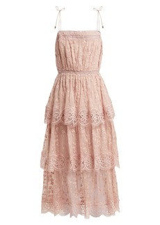 Zimmermann Castile embroidered silk-chiffon dress