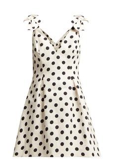 Zimmermann Corsage polka-dot cotton mini dress