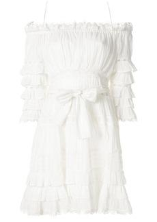 Zimmermann corsair frill tiered dress - White