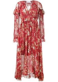 Zimmermann Corsair Iris Cape Dress - Red