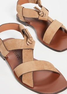 Zimmermann Cross Over Flat Sandals