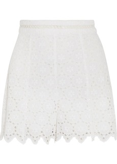 Zimmermann Divinity Wheel broderie anglaise cotton shorts
