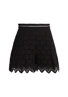 Zimmermann Divinity Wheel broderie-anglaise shorts