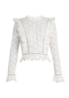 Zimmermann Divinity Wheel broderie-anglaise top