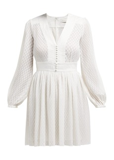 Zimmermann Dot-textured plissé mini dress