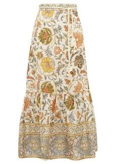 Zimmermann Edie floral-print linen maxi skirt