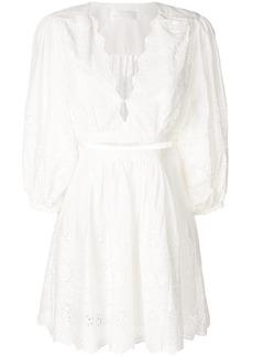 Zimmermann embroidered shirt dress - White