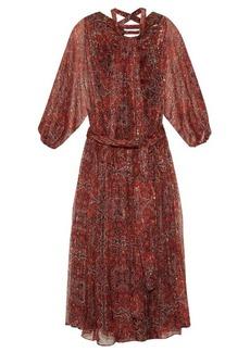 Zimmermann Empire palmette-print silk-chiffon midi dress
