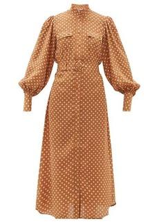 Zimmermann Espionage polka-dot silk shirtdress