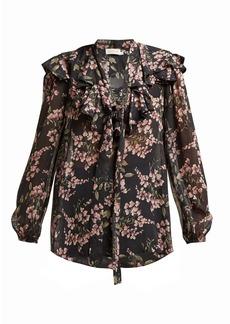 Zimmermann Fleeting Flounce floral-print blouse