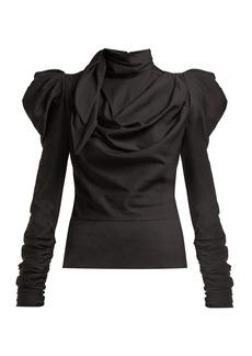 Zimmermann Fleeting tie-neck silk-blend blouse