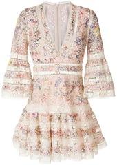 Zimmermann zimmermann floral mini dress   multicolour abvdac89717 a
