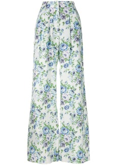 Zimmermann floral print flared trousers - Multicolour