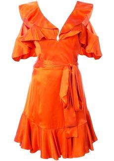 Zimmermann frill trim mini dress - Red