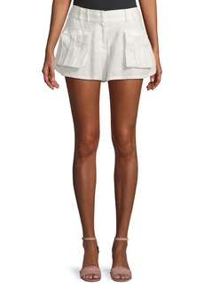 Zimmermann Golden Linen Skater Shorts