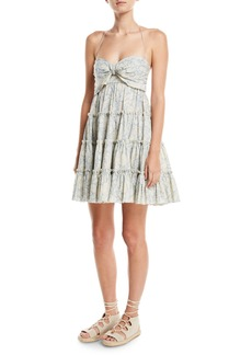 Zimmermann Helm Printed Tiered Swing Coverup Dress