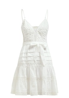Zimmermann Honour lace-panel ruffle mini dress