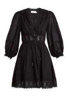 Zimmermann Iris corset-waist cotton dress