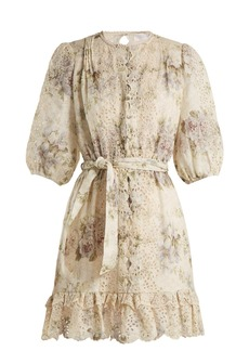 Zimmermann Iris floral-print linen dress