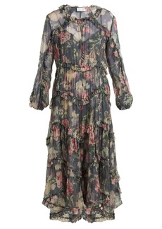 Zimmermann Iris floral-print sheer-silk dress