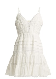 Zimmermann Iris lace-insert camisole dress