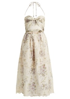 Zimmermann Iris Picnic floral-print linen dress