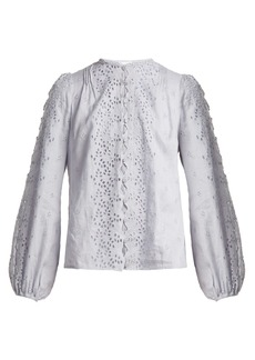 Zimmermann Iris scallop-lace top