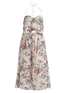 Zimmermann Jasper floral-print halterneck cotton dress