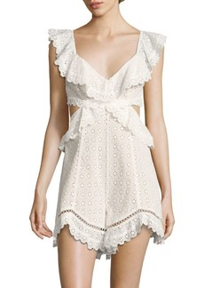Jasper Honeycom Cotton Romper