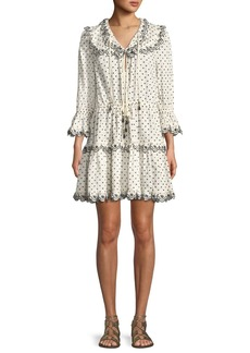Zimmermann Jaya Dot-Print Scalloped Dress