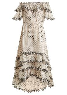 Zimmermann Jaya off-the-shoulder linen dress