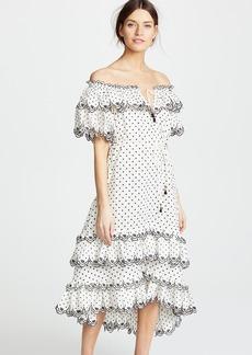 Zimmermann Jaya Scallop Tiered Long Dress