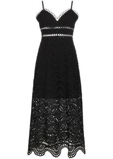 Zimmermann Jaya sleeveless wave bodice cotton dress - Black