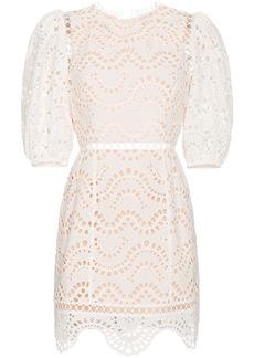Zimmermann Jaya wave cotton dress - Nude & Neutrals