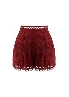 Zimmermann Jaya Wave cotton shorts