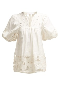5a965c850be40d Zimmermann Zimmermann Meridian broderie-anglaise cotton cami top